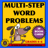 MULTI-STEP WORD PROBLEMS • Distance Learning • BOOM CARDS