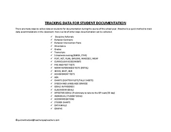 MULTI-TIERED SYSTEM OF SUPPORTS STUDENT DOCUMENTATION