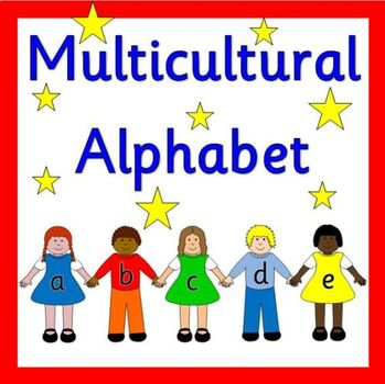 MULTICULTURAL CHILDREN alphabet line