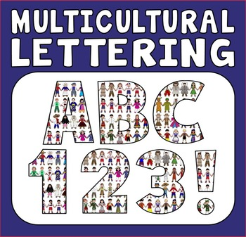 MULTICULTURAL DISPLAY LETTERING TEACHING RESOURCES LETTERS NUMBERS