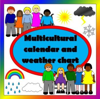 MULTICULTURAL weather chart and calendar