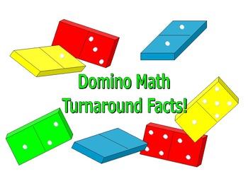 DOMINO MATH - Turnaround Facts Center Activities and Worksheet