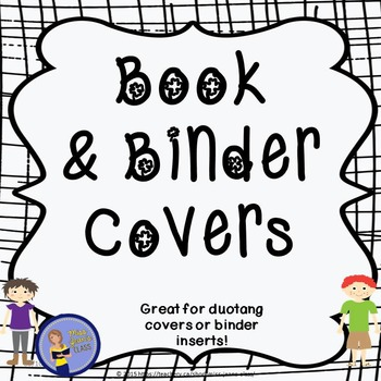MULTIPLE Book Covers and Binder Inserts- Cool Kids Theme