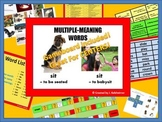 MULTIPLE MEANING WORD ACTIVITIES (Game Board included!)
