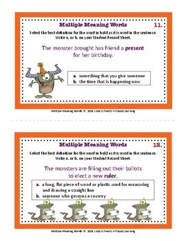 MULTIPLE MEANING WORDS • GRADES 3–5