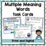 MULTIPLE MEANING WORDS - Task Cards