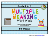 MULTIPLE MEANINGS - Grade 3-5