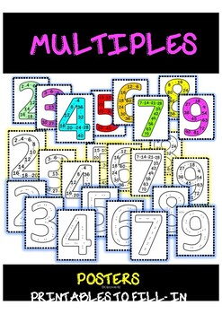 MULTIPLES POSTERS/ 3RD GRADE MULTIPLICATION