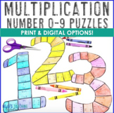 MULTIPLICATION 0-9 Puzzles - Great for Bulletin Board Numbers!