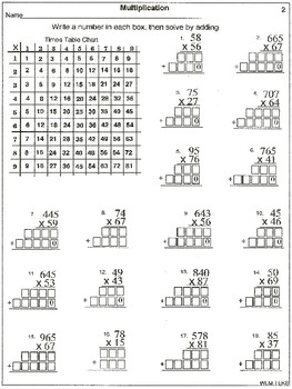 Distance Learning: Multiplication: 2 and 3-Digit by 2 ...