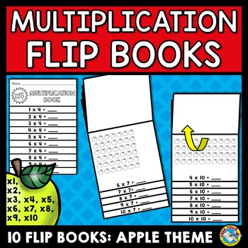 APPLE MATH ACTIVITIES: MULTIPLICATION FLIP BOOKS: APPLE THEME PRINTABLES