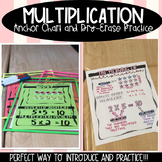 MULTIPLICATION ANCHOR CHART AND DRY-ERASE PRACTICE