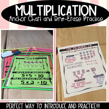 Multiplication Anchor Chart And Dry Erase Practice By Math And Glitter