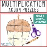 MULTIPLICATION Acorn Fall Activities | Fall Math Centers | Make a FUN Fall Craft