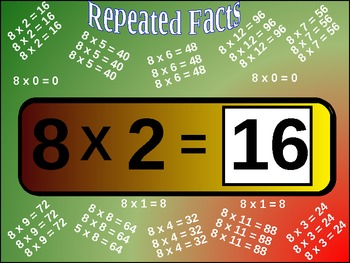 Multiplication Basic Facts Drill (363 flash cards animated)