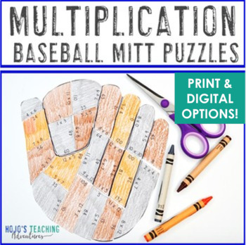 MULTIPLICATION Baseball Math Game - Perfect for a Sports Theme Classroom!