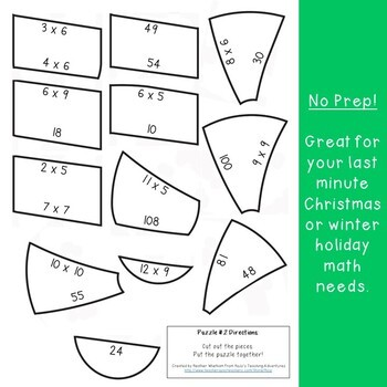 MULTIPLICATION Candy Cane Math | FUN Christmas Activities, Games, or Centers