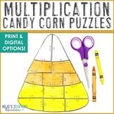 MULTIPLICATION Candy Corn Math Games | FUN Halloween Activities or Puzzles