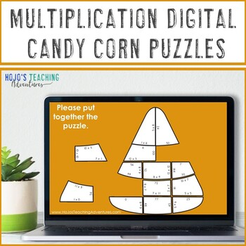 MULTIPLICATION Candy Corn Math Games | FUN Fall Activities or Puzzles