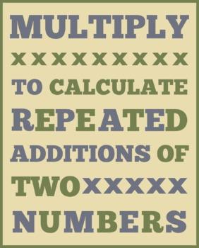 MULTIPLICATION DEFINITION (8X10)