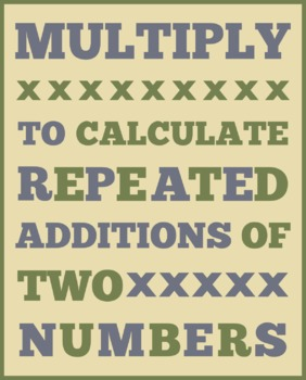 MULTIPLICATION DEFINITION (8X10)