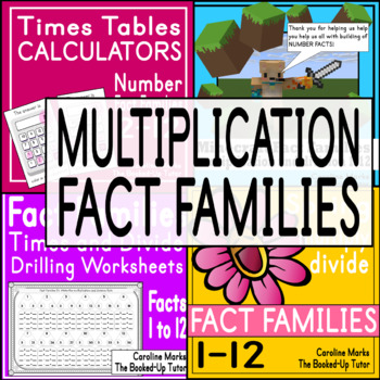 MULTIPLICATION PRACTICE {FACT FAMILIES MULTIPLICATION and DIVISION}