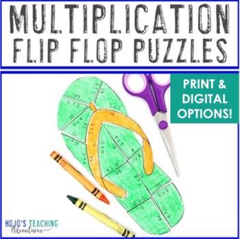 MULTIPLICATION Back to School Activities: FUN Flip Flop Back to ...