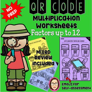 MULTIPLICATION QR CODE WORKSHEETS 0-12