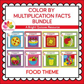 MULTIPLICATION FACTS BUNDLE   0s-12s   FOOD THEME