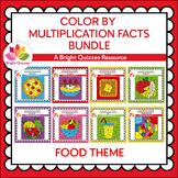 MULTIPLICATION FACTS BUNDLE | 0s-12s | FOOD THEME