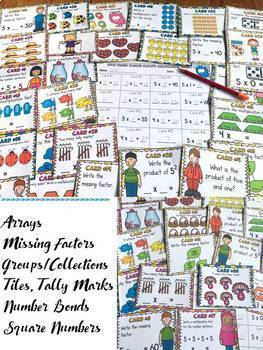 MULTIPLICATION: FIVE TIMES TABLES FACTS: SCOOT CARDS