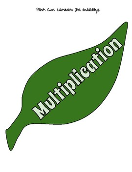 MULTIPLICATION FLOWER WHEEL -FACTS 1-12
