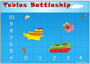 Multiplication Games: 8 Multiplication Game Boards - Battleship