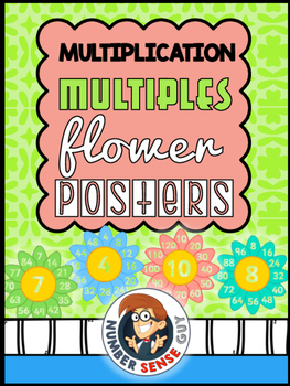 MULTIPLICATION MULTIPLE FLOWER POSTERS