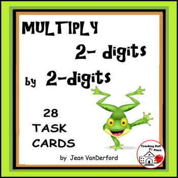 MULTIPLICATION | 2-digits by 2-digits TASK CARDS |  REVIEW