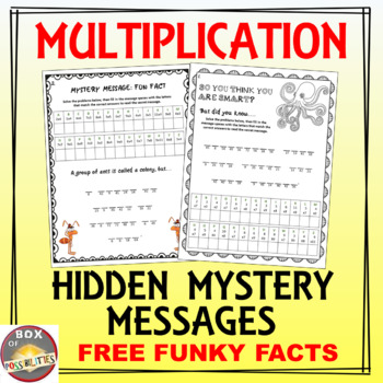 Multiplication Mystery Hidden Message Worksheets By Box Of Possibilities