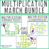 MULTIPLICATION March Math Games or St. Patrick's Day Cente