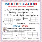 MULTIPLICATION Multiplying multi-digit numbers