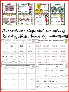 MULTIPLICATION: NINE TIMES TABLES FACTS: SCOOT CARDS