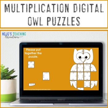 MULTIPLICATION Owl Math Puzzles | Make a Fall Craft or Coloring Page Alternative