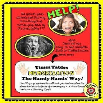 MULTIPLICATION FACTS CATERPILLARS PRACTICE - The Handy Hands Way!