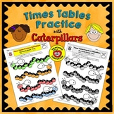 Times Tables Practice: Caterpillars (Color & B/W)