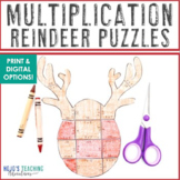 MULTIPLICATION Reindeer Math Puzzles | Christmas Activities, Centers, or Games