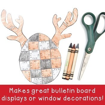 MULTIPLICATION Reindeer Math Puzzles   Christmas Activities, Centers, or Games