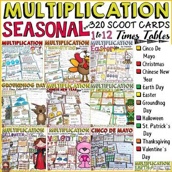 MULTIPLICATION: SEASONAL TIMES TABLES BUNDLE