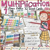 MULTIPLICATION: SEVEN TIMES TABLES FACTS: SCOOT CARDS
