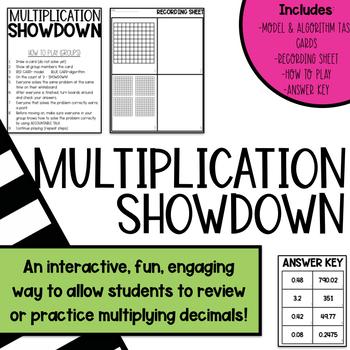 MULTIPLICATION SHOWDOWN: Using Models and Standard Algorithm GAME