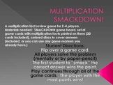 MULTIPLICATION SMACKDOWN!  Multiplication Fact Review Game