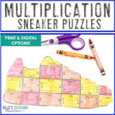 MULTIPLICATION Sneaker Math Puzzles: FUN Sports Math Cente