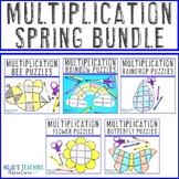 MULTIPLICATION Spring Math Centers | Add to a Distance Learning Packet for Home
